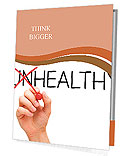 Hand turning the word Unhealthy into Healthy with red marker Presentation Folder