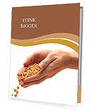Man hands with grain Presentation Folder