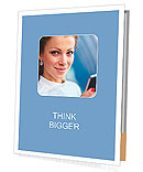Beautiful business woman looking Presentation Folder