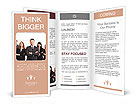 Group of business people smile Brochure Templates