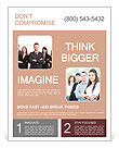 Group of business people smile Flyer Template