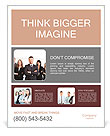 Group of business people smile Poster Template