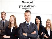 Group of business people smile PowerPoint Templates