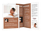 Beautiful woman relaxing Brochure Templates