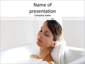 Beautiful woman relaxing PowerPoint Template
