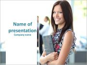 Face of happy beautiful woman PowerPoint Templates