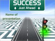 Green traffic light as a sign of success PowerPoint Templates