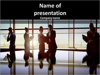 Team of successful business people in the office PowerPoint Template
