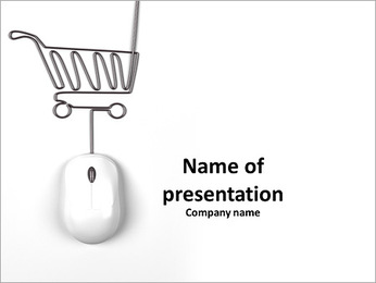 Mouse and trolley in form of lamp PowerPoint Template