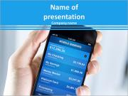 Banking in mobile PowerPoint Templates