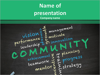 Community concept with other related words PowerPoint Template