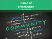 Conceito comunitário com outras palavras relacionadas Modelos de apresentações PowerPoint