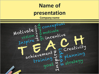 Teach concept with other related words PowerPoint Template
