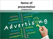 Advertising concept and Bulb light idea with other related words PowerPoint Templates