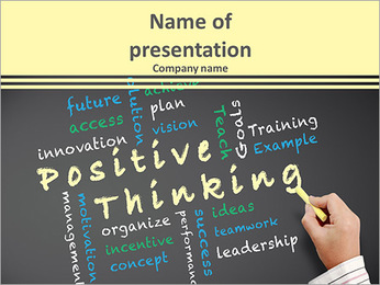 Positive thinking concept and other related words PowerPoint Template