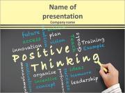 Conceito do pensamento positivo e outras palavras relacionadas Modelos de apresentações PowerPoint