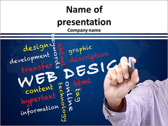 Web design concept and other related words PowerPoint Template