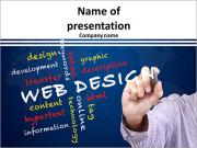 Web design concept and other related words PowerPoint Templates
