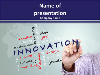 Innovation concept and other related words PowerPoint Template