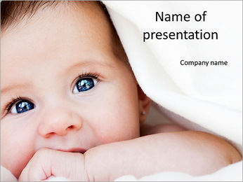 Beautiful image of baby PowerPoint Template