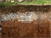 Underground soil layers PowerPoint Templates