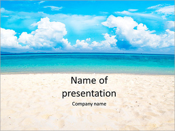 Beautiful beach and very beautiful water PowerPoint Template