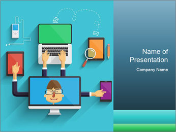 0000082100 PowerPoint Template - Slide 1