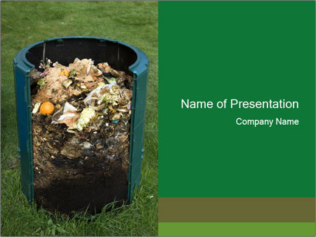 Cross section of compost bin PowerPoint Templates