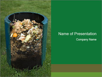 Cross section of compost bin PowerPoint Templates - Slide 1