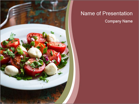 Tomatoes with mozzarella PowerPoint Templates