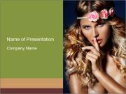 Beauty portrait of Young PowerPoint Templates