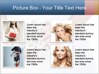 Bride holding white handbag PowerPoint Templates - Slide 14