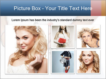 Bride holding white handbag PowerPoint Templates - Slide 19