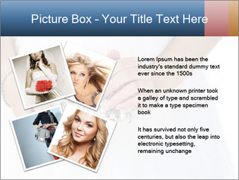 Bride holding white handbag PowerPoint Templates - Slide 23