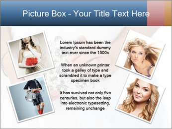 Bride holding white handbag PowerPoint Templates - Slide 24