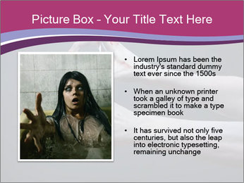 Zombie stretching bloody hands PowerPoint Templates - Slide 13