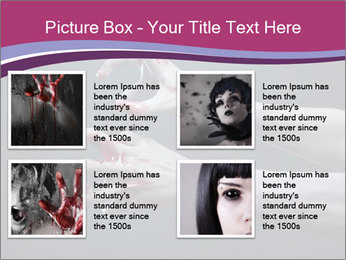 Zombie stretching bloody hands PowerPoint Templates - Slide 14