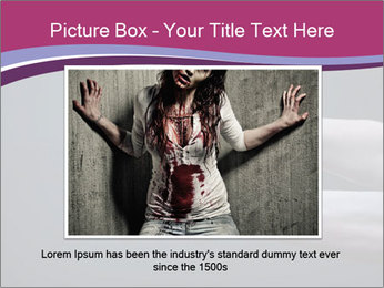 Zombie stretching bloody hands PowerPoint Templates - Slide 15