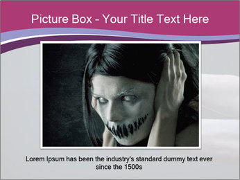 Zombie stretching bloody hands PowerPoint Templates - Slide 16