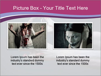 Zombie stretching bloody hands PowerPoint Templates - Slide 18
