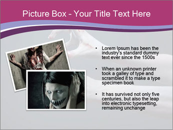 Zombie stretching bloody hands PowerPoint Templates - Slide 20