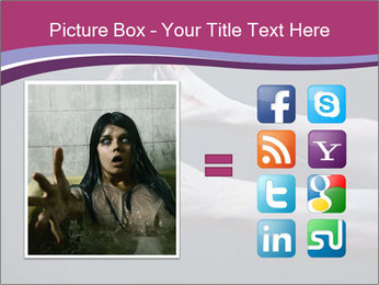 Zombie stretching bloody hands PowerPoint Templates - Slide 21