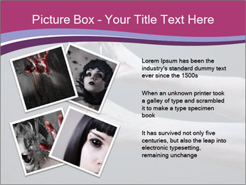 Zombie stretching bloody hands PowerPoint Templates - Slide 23