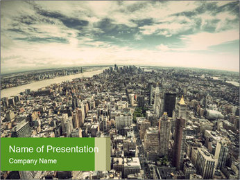 Panoramic view over Manhattan PowerPoint Templates - Slide 1