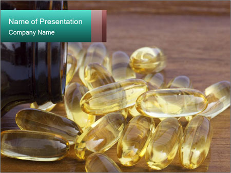 Salmon Oil or Evening Primrose PowerPoint Templates