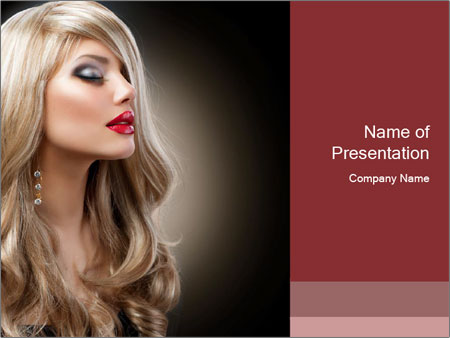 Beautiful Sexy Blond Girl PowerPoint Templates