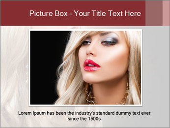 Beautiful Sexy Blond Girl PowerPoint Templates - Slide 15