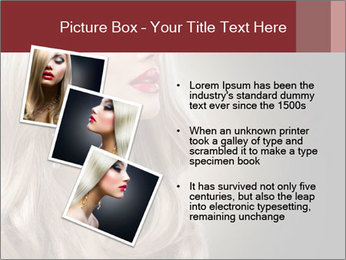 Beautiful Sexy Blond Girl PowerPoint Templates - Slide 17