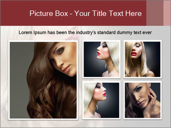 Beautiful Sexy Blond Girl PowerPoint Templates - Slide 19