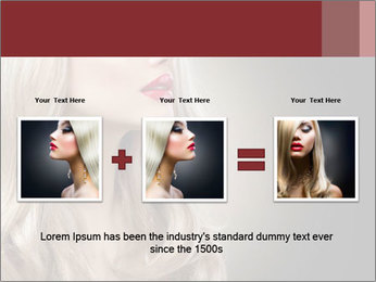 Beautiful Sexy Blond Girl PowerPoint Templates - Slide 22